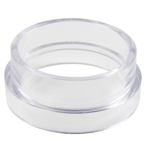 Middle ring only; Styrene, clear, 1/2-inch